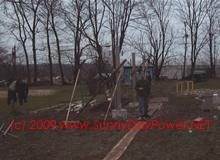 Install SCH40 Steel Poles