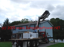 Rooftop Delivery of Shingles – Lifetime Roof Installed Prior to Solar Install